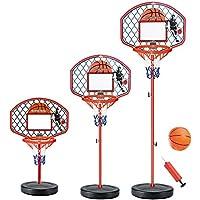 FongFong Kinder Mini Basketballkorb Hoop Set Höhenverstellbar Fürs Zimmer Indoor und Outdoor Fun Ball Spielzeug Basketball-Backboard Ständer Hoop Set für Kinder 142cm