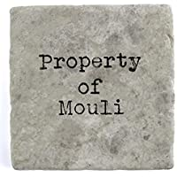 Property of Mouli - Single Marble Tile Drink Coaster