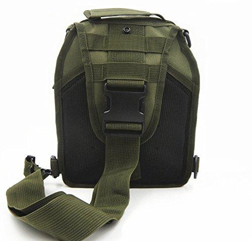 Tactical una borsa a tracolla militare petto Sling borsa a tracolla, zaino per campeggio, escursioni, trekking, viaggi zaino, Sand Camo Army Green