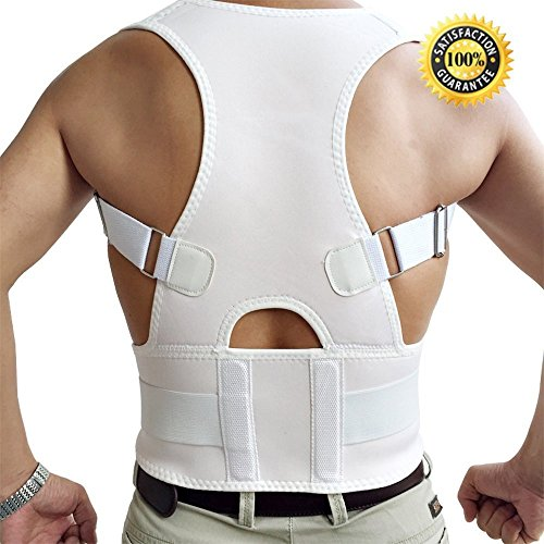 Aptoco Back Shoulder Support Brace Posture Corrective Therapy Back Belt With Magnets by Aptoco