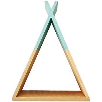 soundwinds schwebende Regale Dekorative Holz Wandregal Dreieck Handarbeit DIY Storage Display Regal Dekoration Wareng/üter Regal Lagerregal Dekoration a