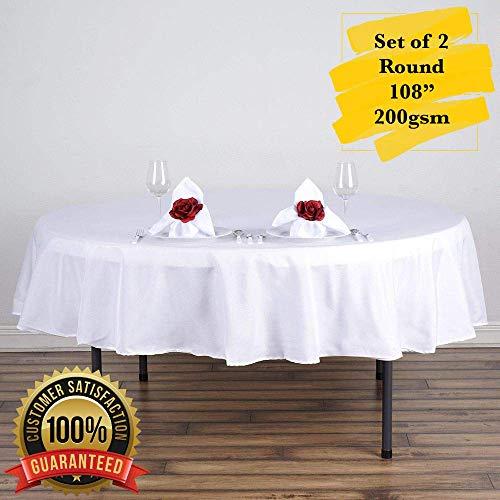 ester Tischdecken, knitterfeste Tischdecke, perfekt für Hochzeit, Buffet, Restaurant, 2er Set 108