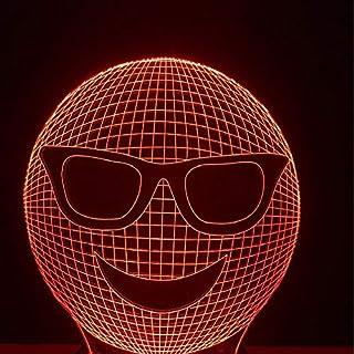 3D Nachtlicht Expression Sonnenbrille, Acryllampe, Nachtlicht, Augenschutz, Kleine Tischlampe