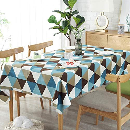 terte Tischdecken im mediterranen Stil Wasserdicht Frische und reich verzierte Baumwolltischdecken Rechteckige Couchtisch Tischdecken(Blau 140 x 200 cm) ()