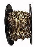 ABUS BOGEQOT020 - Bobina 30m cadena dorada sección cuadrada 2mm