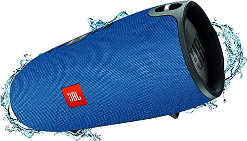 JBL Xtreme Spritzwasserfester Tragbarer Bluetooth Lautsprecher mit 10,000 mAh Akku, Dualem USB-Ladeanschluss und Freisprechfunktion - Blau (Usb Xtreme)