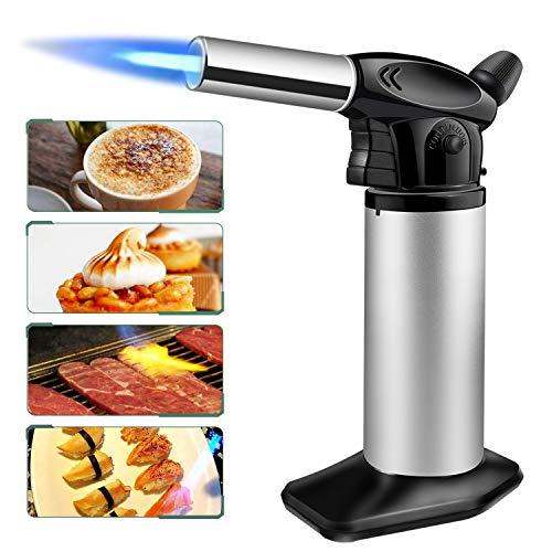SUMGOTT Bunsenbrenner Küchenbrenner Gasbrenner Creme Brulee für die Küche, Creme Brulee, BBQ, Desserts,Camping ( Butan inbegriffen nicht ) -