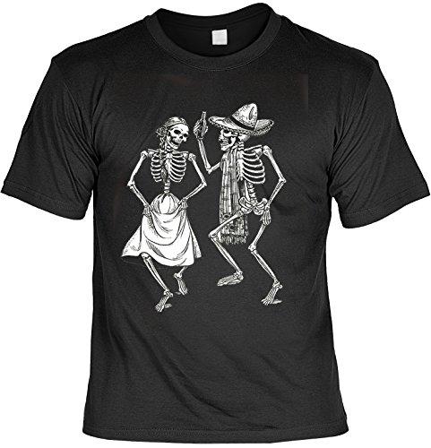 (Skull T-Shirt Totenkopf mit Melone Totenkopf Shirt für Biker Skelett T-Shirts für Herren Männershirt Laiberl Leiberl Geschenk für Freunde)