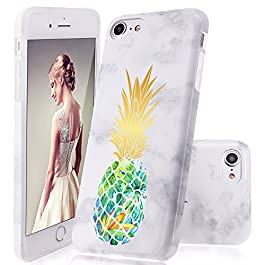 DOUJIAZ iPhone 8 Case,iPhone 7 Case, Marble Design Clear Bumper TPU Soft Case Rubber Silicone Skin Cover for iPhone 7 (2016) / iPhone 8 (2017)