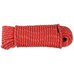 Chapuis DR62 Cuerda de polipropileno trenzada - 450 kg - Diámetro 6 mm - Largo 15 m - Naranja