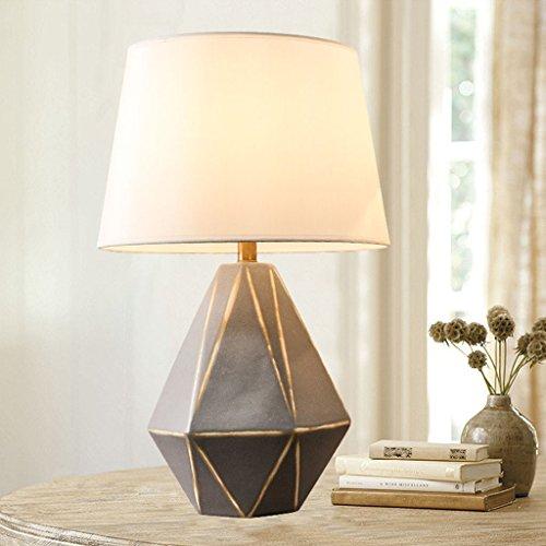 Lampe de bureau Lampe de table en céramique simple moderne lampe de table en céramique Lampe de chevet lampe de table en porcelaine fait à la main Lampe de table Céramiques européenne et américaine Chambre salon chambre en céramique Creative Lampe de table