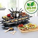 Raclette und Fondue Party-Grill Elektro Set für 4-6-8-12...
