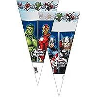 Verbetena, 014300067, pack 6 bolsas cono avengers, 20x40 cms, pack 6 bolsos