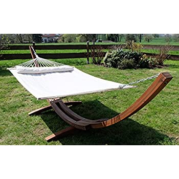 capacity arc fiesta dp garden teak leisure with wooden hammock amazon ft person bed stand padded color com quilted lb petra double
