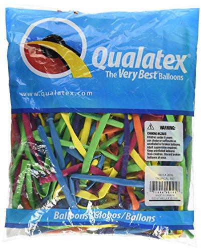 Qualatex 100 Modellierballons 260Q, Qualatex,Tropical Sortiment