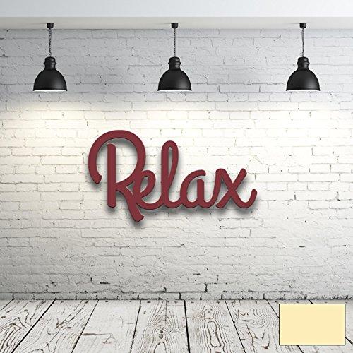 ilka parey wandtattoo-welt Wanddeko Dekoration Holz Holzschriftzug Schriftzug Relax H021