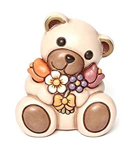 Thun animals teddy with bunch of flowers ceramic multi for Saldi thun amazon