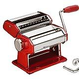 Sentik Kit 3en 1en acier inoxydable Machine à pâtes Lasagnes Spaghetti et Tagliatelles Cutter rouge
