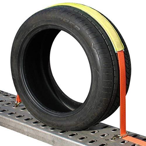 Durable Roues en alliage /à cliquet Arrimage sangles voiture r/églable pneu roue sangle