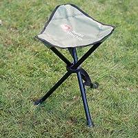A2Z Home Solutions® Silla de trípode compacta y cómoda para exteriores, jardín, camping, picnics y festivales, caqui