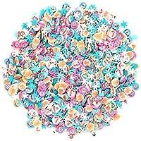 Lurrose 1000 unids Navidad Fimo rebanadas Nail Art decoración de uñas pegatinas DIY Nail Decal