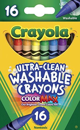 Crayola 526916hochreines waschbar Kreiden, Regular, 8Farben (Box von 16Kreiden)