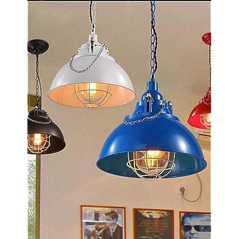 Illuminazione jiaily la barra metallica Ferro lampada singola testa Caffettiera lampadario , bianco caldo-220-240v