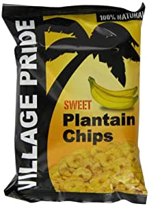 Village Pride Plantain Chips Sweet 75 g (Pack of 24)