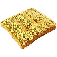 laamei Cojines de Asiento Algodón Cómodos Cojín Terraza Amortiguador de Sillas Oficina Hogar Muebles Decoración con Lazos 40cm