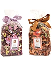 DECO ARO Lavender/Peach Belani Aroma Potpourri in Poly Bag (Multi-coloured)-Pack of 2