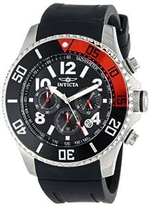 Invicta Invicta Pro Diver 15145 - Reloj cronógrafo de cuarzo para hombre, correa de silicona color negro (cronómetro, agujas luminiscentes) de Invicta