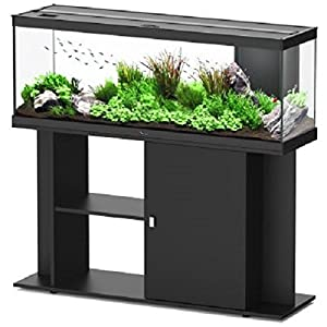 Energy Efficient Complete LED Aquarium Set – Comes With Base Unit. Filter System, Water Pump, And Heater (White)