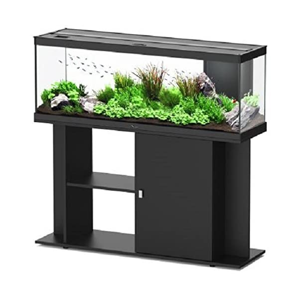 Energy Efficient Complete LED Aquarium Set – Comes With Base Unit. Filter System, Water Pump, And Heater (Black)