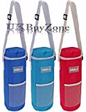 Insulated Bottle Cool Bag Zip Up Ice Wine Cooler Shoulder Strap Picnic Drinks