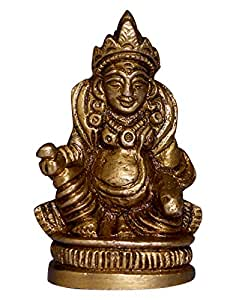 Elite Brass Kuber God Idol- Lord Of Wealth Ideal For Temple & Home Dã©Cor(Height- 5 Cm)