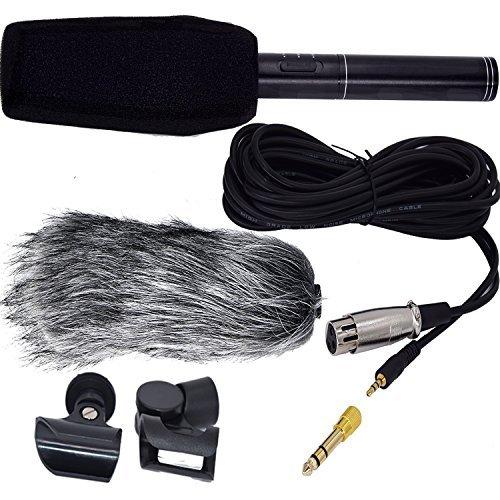 Interview Mikrofon HD Shotgun Recording Professionelle Kondensatormikrofon Stereo Video Mic Recorder mit Webpelz-Windschutz für Canon Nikon Pentax Olympus Panasonic digitale SLR-Kamera usw (Shotgun Mic Canon)
