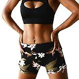 Vectry Damen Hosen Shorts Sommer Hotpants Bermudas Ultra Jeans Leggings Strand Laufgymnastik Yoga Der Sporthosen Schlafanzughosen - Sport Workout Gym Fitnessübungen Athletic (S, Schwarz)