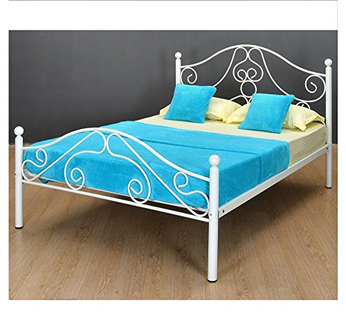 @home by Nilkamal Lizzy Queen Size Bed without Storage (Matte Finish, Grey)