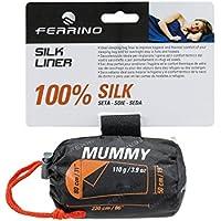 Ferrino Silk Liner Mummy Saco de Dormir Tiempo Libre y Senderismo Unisex Adulto, Blanco (