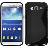 Funda de silicona para Samsung Galaxy Grand 2 - S-Style negro - Cover PhoneNatic Cubierta + protector de pantalla