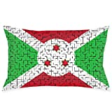 Burundi Flag Puzzle Fundas de Almohada Decorative Pillow Covers Soft and Cozy, Standard Size 20'x30'...