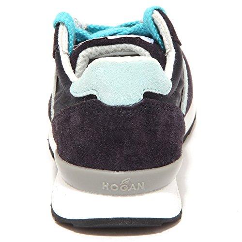 6690P sneaker bimbo HOGAN REBEL blu/azzurro scarpa shoe kid Blu