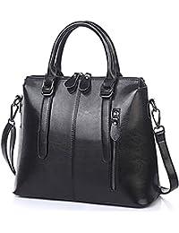 4a424d627f093 Oruil Frau Italienische Weiche Leder Handtaschen Damen Designer Leder  Doppel Zip Handtaschen Schultertasche Tote Bag