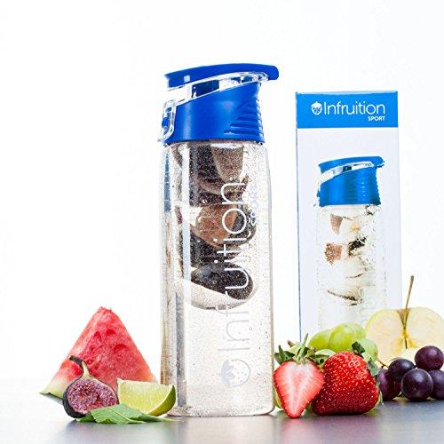 Infruition - Botella de Agua Deportiva infusora de Frutas - 700ML - Azul Real