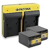 PATONA Dual Lader Sony NP-FV100 mit micro USB Anschluss + 2x Akku für Sony HDR-CX110 CX170 DCR-SR68 SR78 SR300
