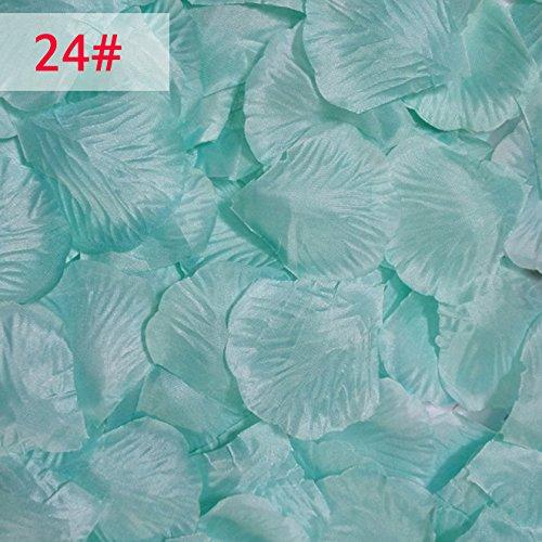1000Silk Rosenblätter Hochzeit Celebration Dekoration Blumen Konfetti #24 Tiffany Blue