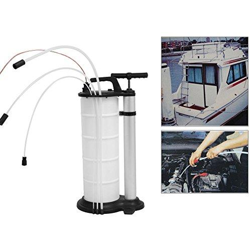 Manual Extractor de Fluido de Aceite de Vacío Bomba de Mano para Transferencia de Combustible de Gasolina de Motor de Coche (9L)