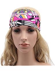 Forfar Amplio Yoga Deportes diadema estiramiento hairband elástico Venda de los accesorios del pelo El mejor regalo de Boho del turbante Estilo de la moda para la Mujer