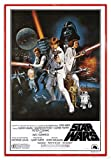 Close Up Star Wars Poster Style 'C' - American (94x63,5 cm) gerahmt in: Rahmen rot