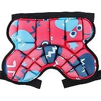 AUEDC Protectiongear Butt Protectora Pad, Niños Deportes Destruir Ajustables anticaída Pantalones de Seguridad Anti-caída para el patín del esquí del Snowboard del Patinaje de Hockey de fútbol,Rojo